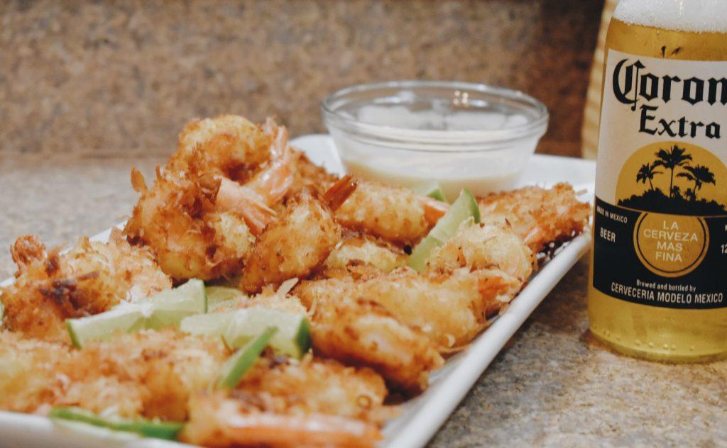 Coconut Pepper Shrimp with Mango Colada Dipping Sauce // KaeLouz